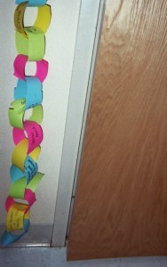 Hang a Worry Chain in a corner. Invite students to add links that express personal concerns.