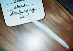 Is handwriting important in a digital world? Old quill pens were dipped in ink jars for cursive writing.