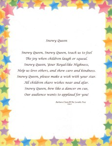 Snowy Queen teaches the value of showing love, care and kindness.
