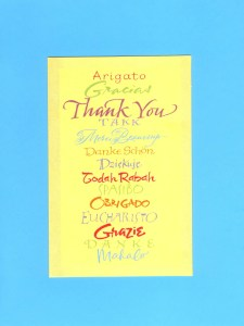 Invite students to say Thank You in different languages they know at a Mini Classroom Talent Show.