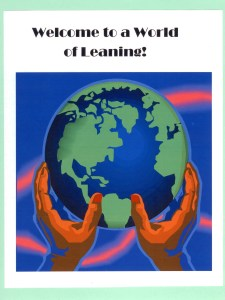 Welcome to a World of Learning is an attention-getting theme for the start of a new school year.
