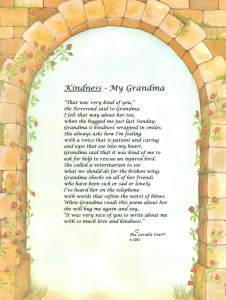 Kindness - My Grandma...a universal truth for so many children. Grandmas cheer for children's success.