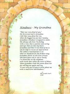 Kindness - My Grandma...a universal truth for so many children. Grandmas cheer for children's success.