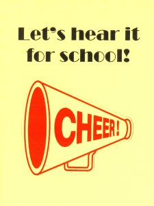 Create or borrow a class cheer to pump up enthusiasm for the school year ahead.