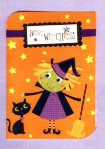 """Little Witch sends """"best wiches for learning and fun in school at Halloween time."""