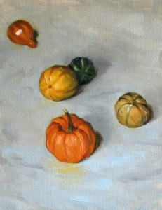 Gourds on White