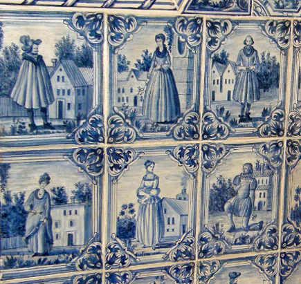 delft tile in kitchens