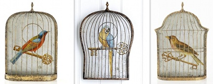 Image Of Birdcage Wall Sticker Decor