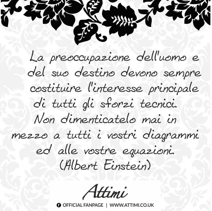 La preoccupazione dell'uomo e del suo destino devono sempre costituire l'interesse principale di tutti gli sforzi tecnici… ( Albert Einstein )