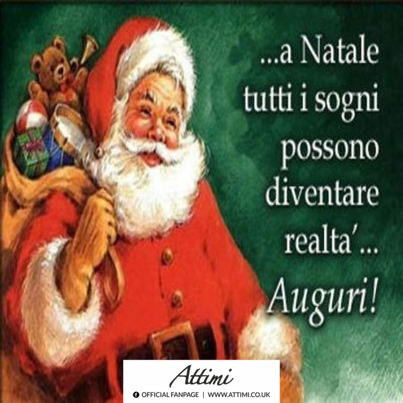 A Natale tutti sogni possono diventare realtà… Auguri!