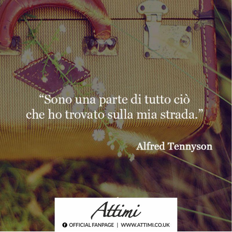 Sono una parte di tutto ciò che ho trovato sulla mia strada  ( Alfred Tennyson )