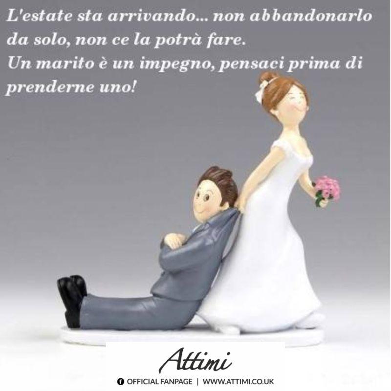 L'estate sta arrivando… non abbandonarlo da solo, non ce la potrà fare. Un marito è un impegno, pensaci prima di prenderne uno!
