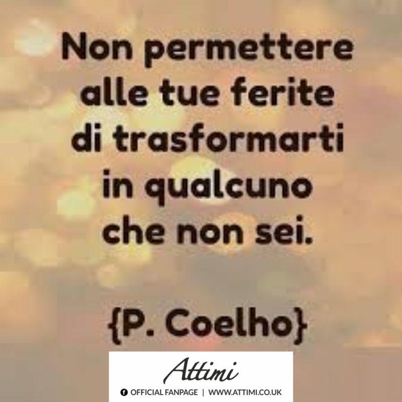 Non permettere alle tue ferite di trasformarti in qualcuno che non sei. (P. Coelho)