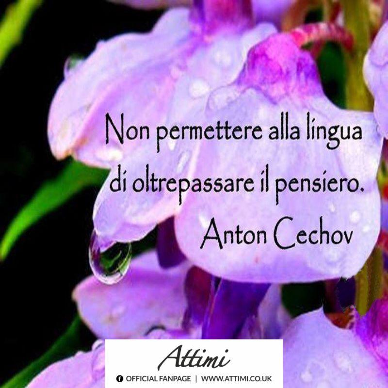 Non permettere alla lingua di oltrepassare il pensiero. (Anton Cechov)