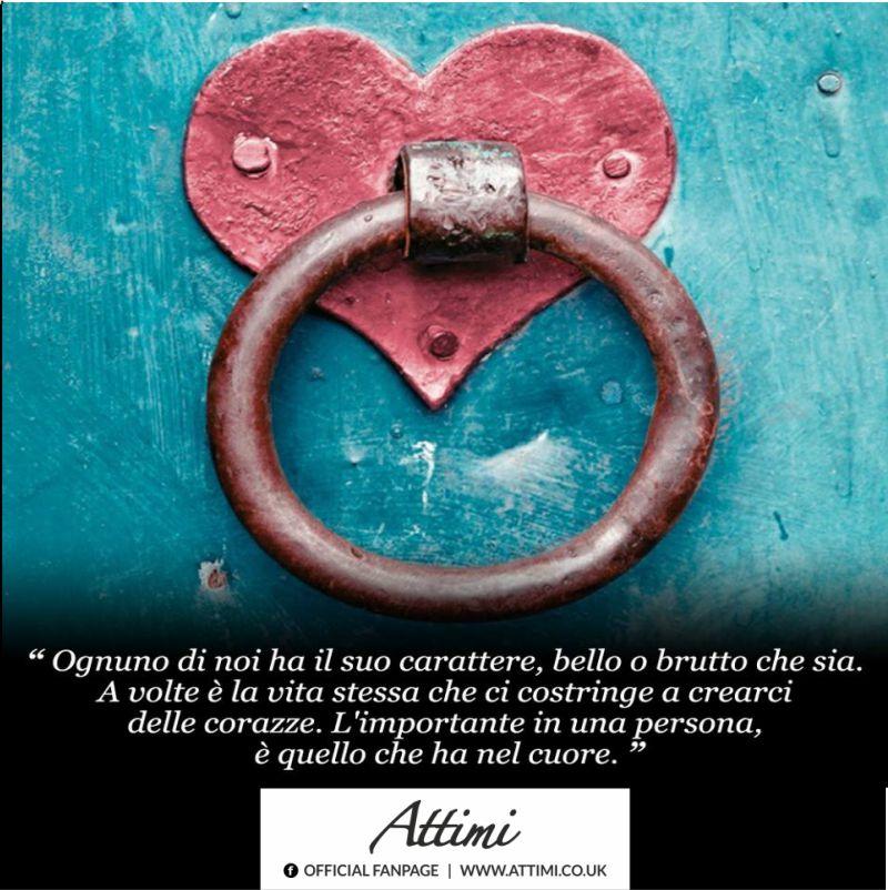 Ognuno di noi ha il suo carattere, bello o brutto che sia. A volte è la vita stessa che ci costringe a crearci delle corazze. L'importante in una persona è quello che ha nel cuore.