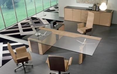 bureaux en verre