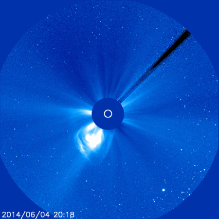 solar filament eruption june 4 2014 soho