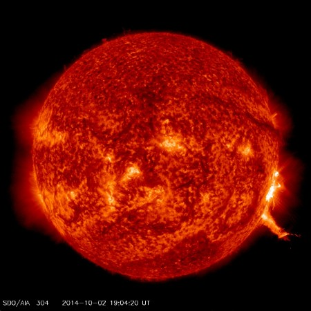 m7-3 oct 2 2014 sdo aia 304 at 19-04 utc 2