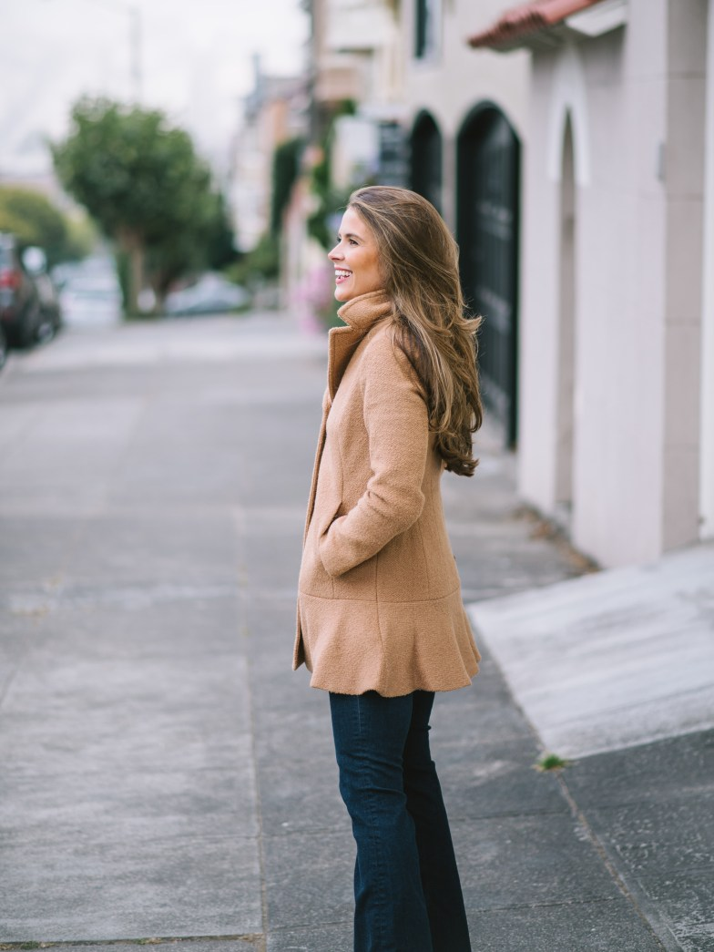 kenzie coat, camel coat, fall coat, attn to detail, megan yazdani