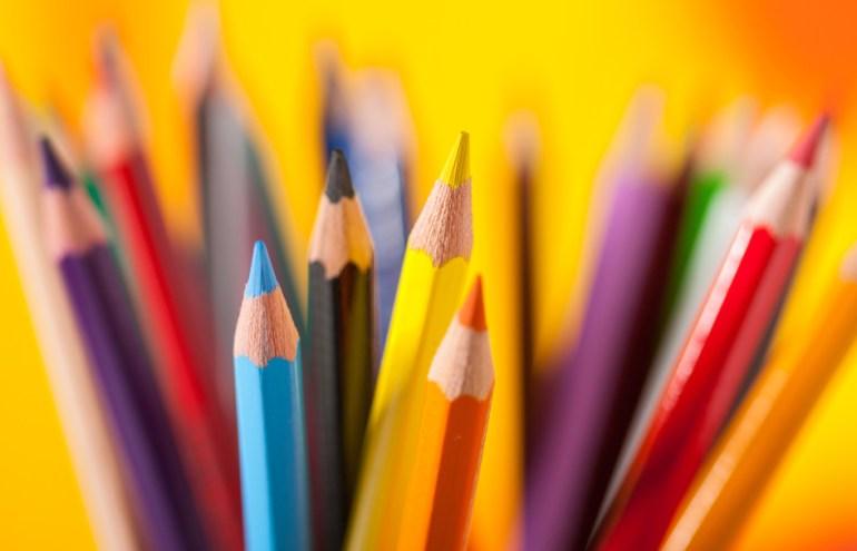 colored pencils showing Feature versus Benefit