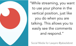 Periscope - SM for lawyers