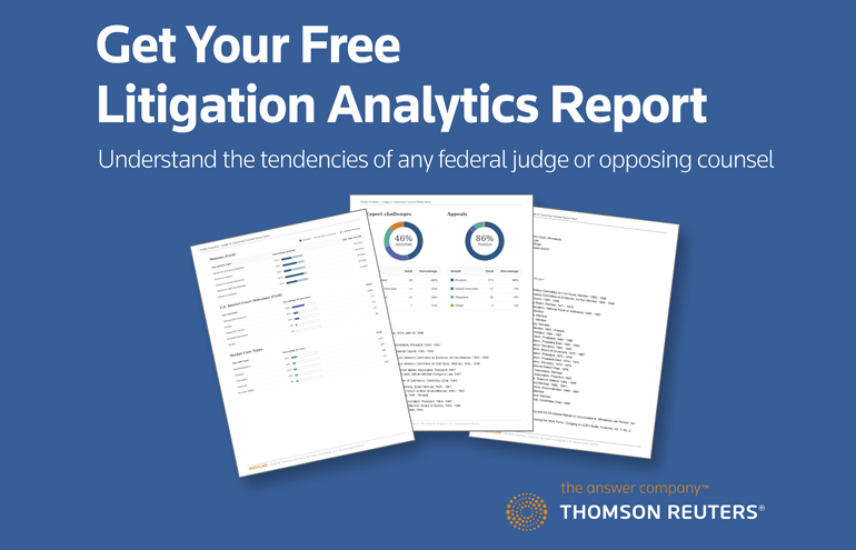 Thomson Litigation Analytics Report