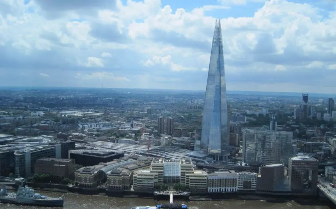 View of The Shard from the Sky Garden