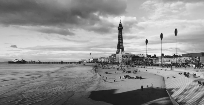 The Blackpool Tower from the Shoreline