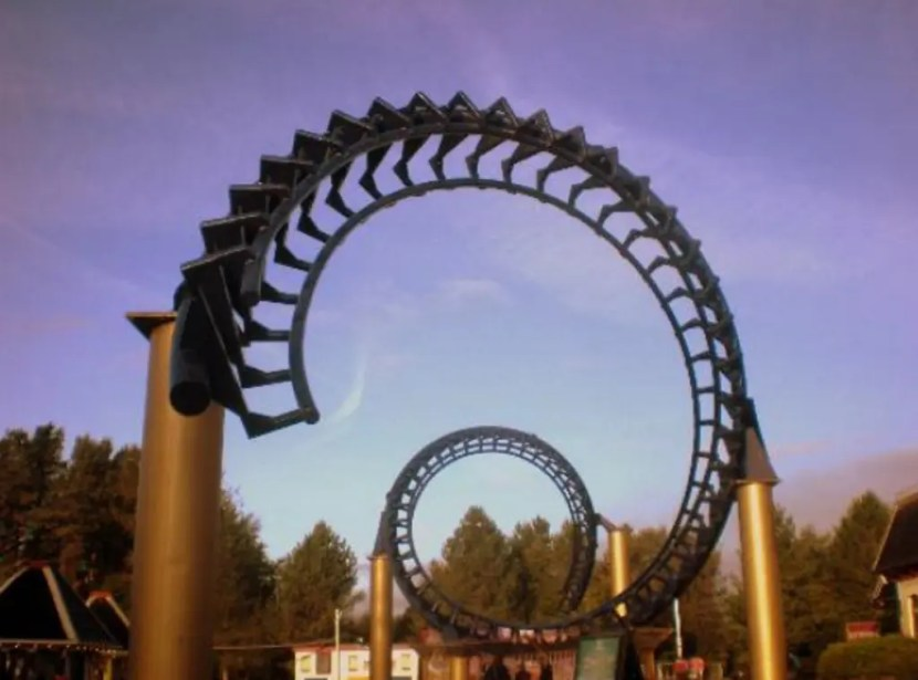 The Corkscrew - Alton Towers Theme Park Entrance