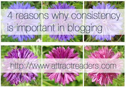 Consistency in blogging