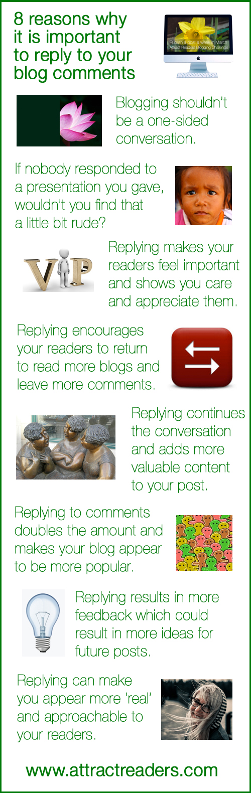 8 reasons why it's important to reply to your blog comments