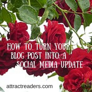 turn your blog post into a social media update