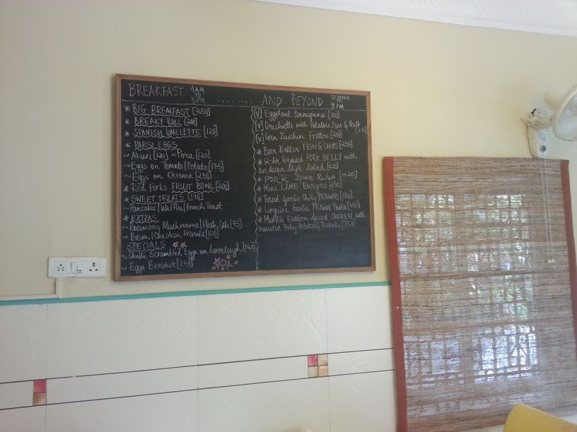 Red Fork Menu