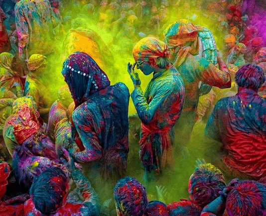 traditional village holi