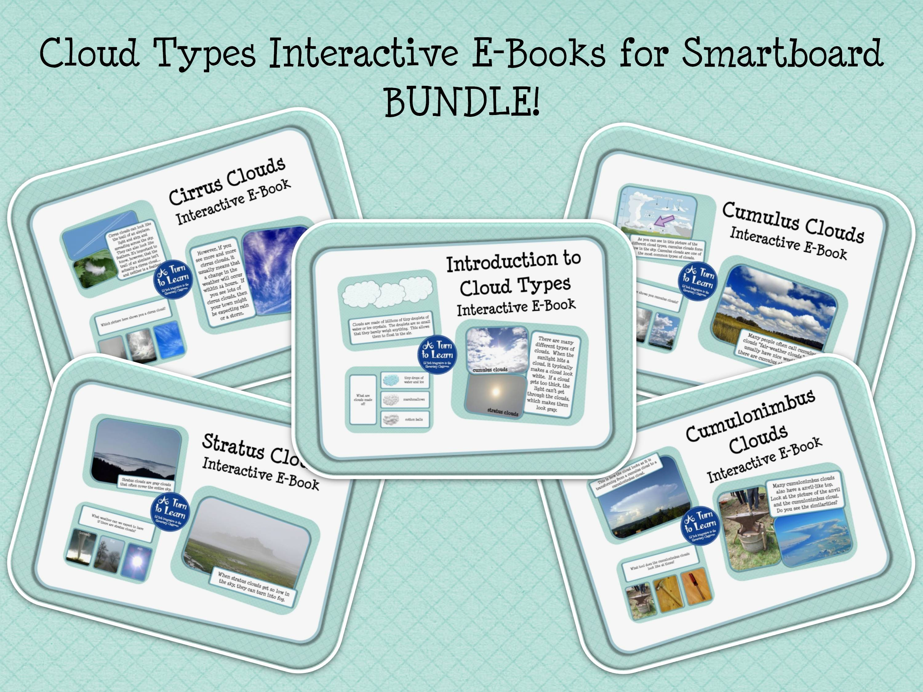 Cloud Types Unit Bundle Of Games For The Smartboard A Turn To Learn