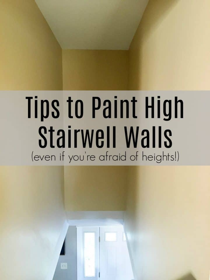 How To Paint High Walls On Stairs A Turtle S Life For Me | Stairs Wall Paint Design | Luxury Staircase Wall | Wallpaper | Wall Colour | Beautiful | Wall Painting