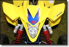 2009 Suzuki LT-Z400 ATV quad deportivo guardabarros delanteros