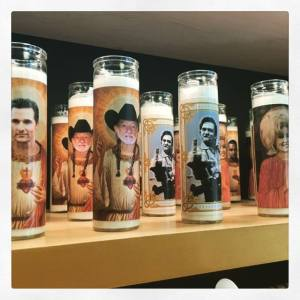 Celebrity devotional candles feature Matthew McConaughey, Willie Nelson, Johnny Cash and Dolly Parton