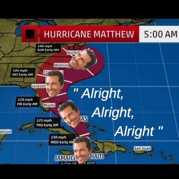 Matthew McConaughey Hurricane