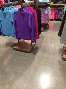 Polished concrete for Stores