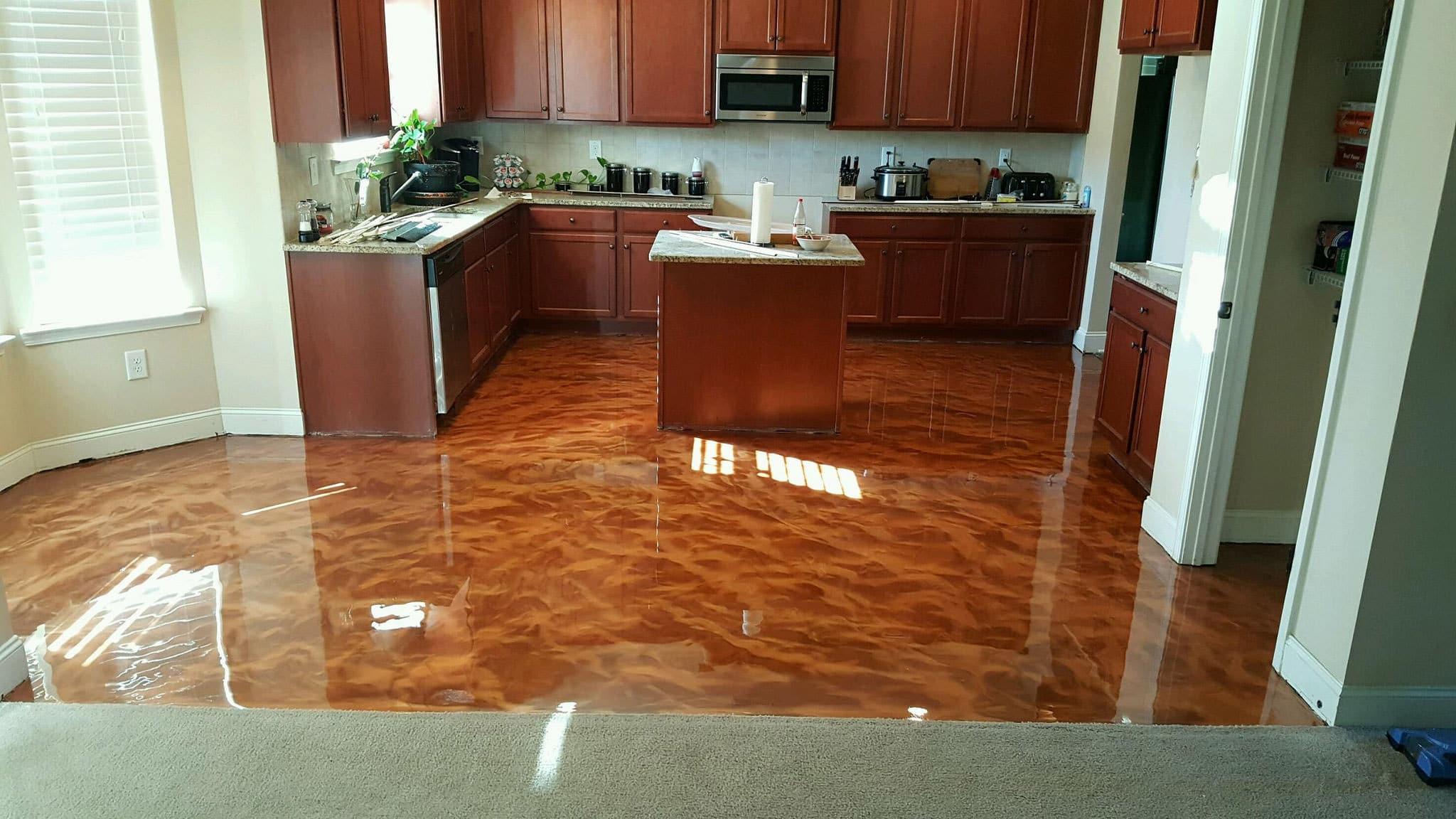 metallic epoxy floor austin