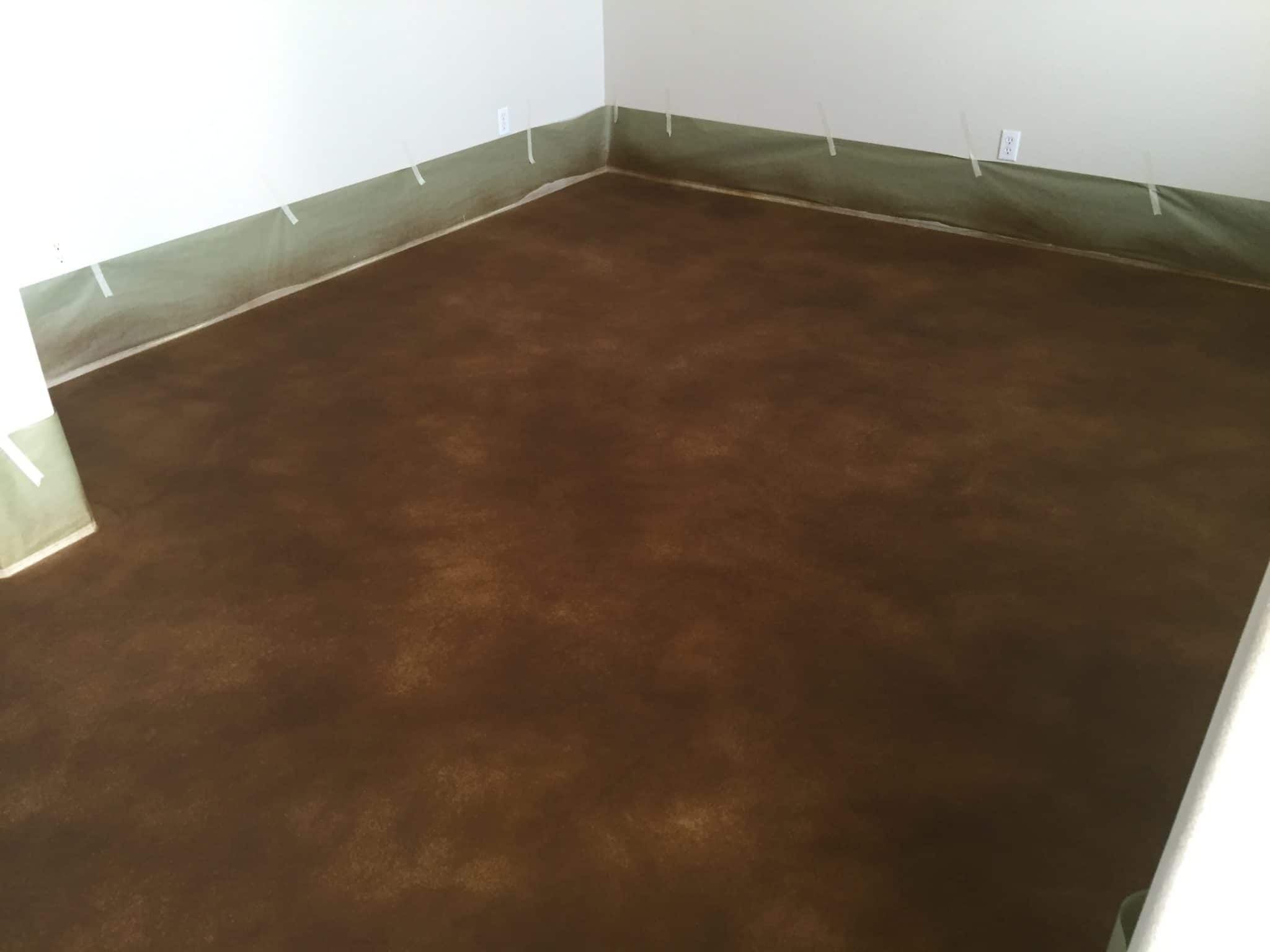 brown stained concrete