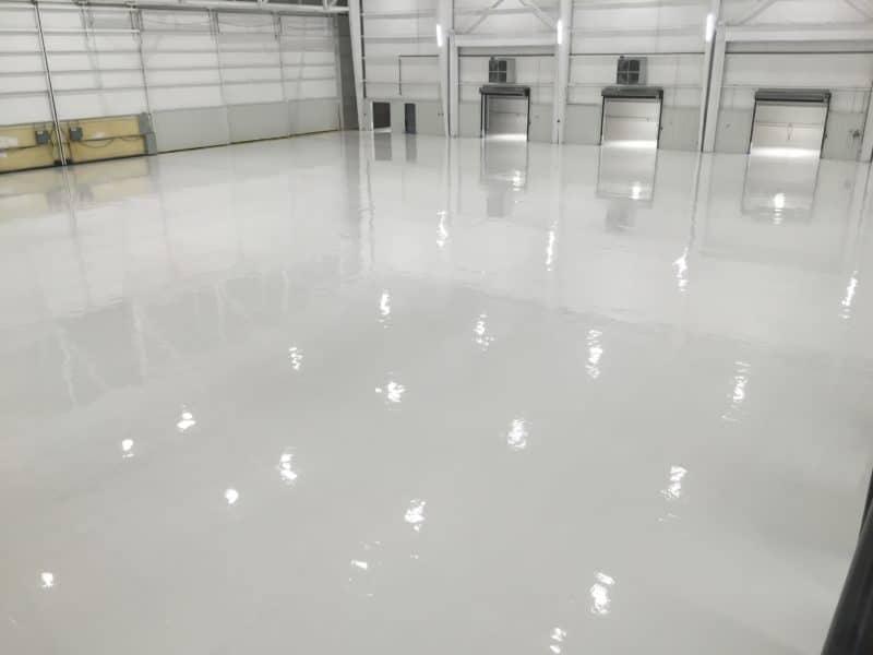 epoxy flooring on warehouse floor