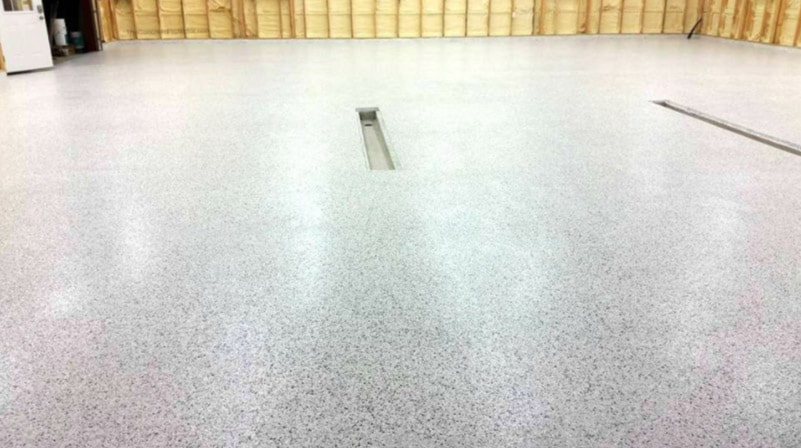 chip epoxy garage flooring