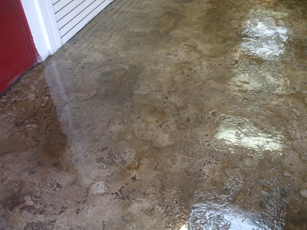 concrete with acid stain