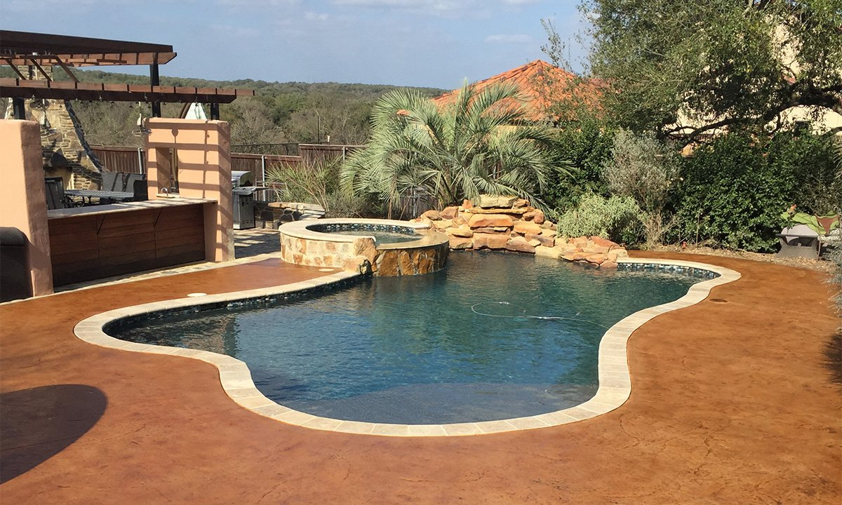 Stained Patios and Pool Decks