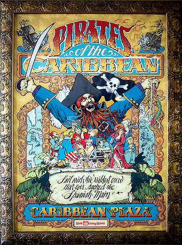 Pirates of the Caribbean Classic Attraction Poster