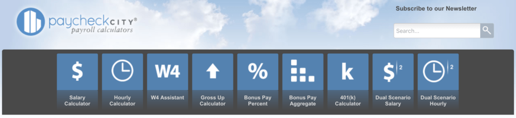 Paycheck City Homepage