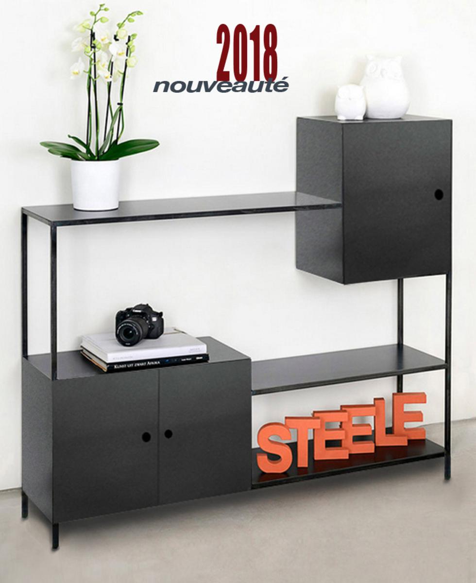 meubles tv metal bois sur mesure
