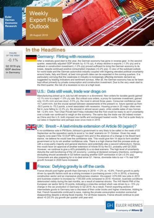 Weekly Export Risk Outlook 28/08/2019
